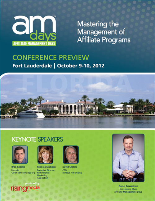 Affiliate Management Days East 2012: Conference Preview Guide Live