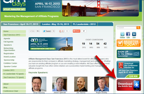 Affiliate Management Days Mobile App Enhances Conference Experience