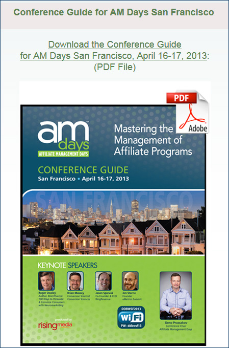 AM Days San Francisco 2013 Conference Guide