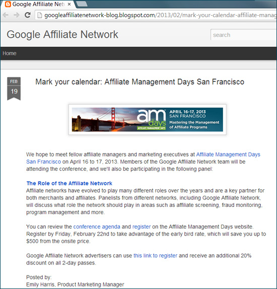 Google Affiliate Network May Be Gone, But We'll Be Back Again