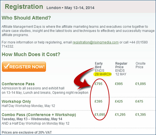 Affiliate Management Days London 2014 Early Bird Ends This Friday!