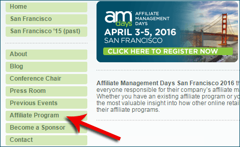 Refer Conference Registrations to AM Days, Make Good Money