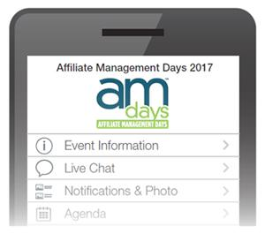 Use Affiliate Management Days Conference Mobile App for Networking